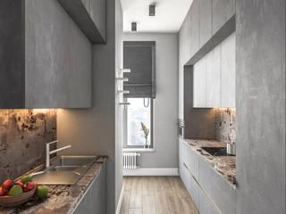 Студия дизайна 'INTSTYLE' ครัวสำเร็จรูป ไม้ Grey