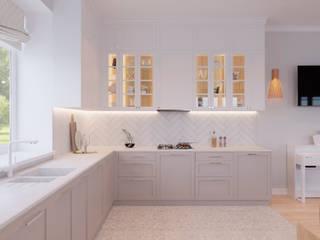 Студия дизайна 'INTSTYLE' ห้องครัว ไม้ Beige