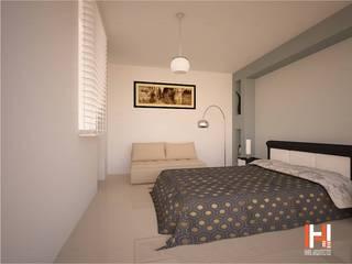 HHRG ARQUITECTOS Minimalist bedroom