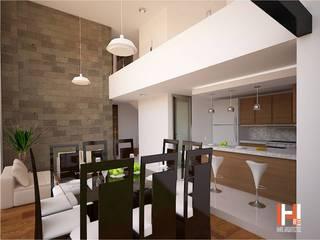 HHRG ARQUITECTOS Minimalist living room