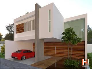 CASA RESIDENCIAL Casas modernas de HHRG ARQUITECTOS Moderno