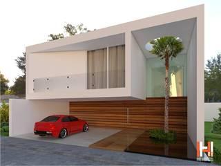FACHADA MODERNA Casas modernas de HHRG ARQUITECTOS Moderno