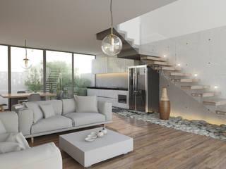 21arquitectos Salas de estar minimalistas
