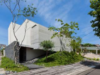 Architet6建築事務所 Maison individuelle Béton Blanc