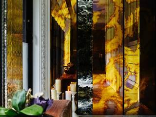 ห้องโถงทางเดินและบันไดสมัยใหม่ โดย 大湖森林室內設計 โมเดิร์น