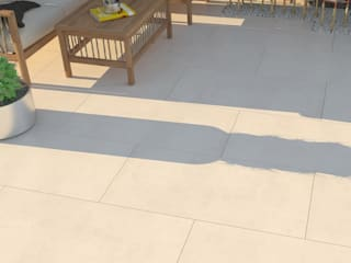 Porcelain Tiles Outside by Royale Stones Modern garage/shed by Royale Stones Limited Modern