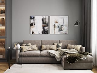 Студия дизайна 'INTSTYLE' Living room Wood Grey