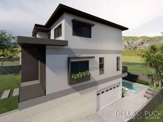 Residência unifamiliar com terreno em desnível e vista panorâmica por Della&Pucker - Eng. Civil e Arquitetura Moderno