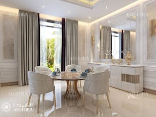Modern dining room design in Abu Dhabi Modern Dining Room by Algedra Interior Design Modern