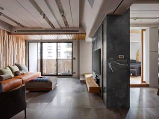 日式新和風清美學宅邸 大湖森林室內設計 客廳 大理石 Amber/Gold