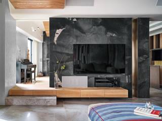 日式新和風清美學宅邸 大湖森林室內設計 客廳 大理石 Green