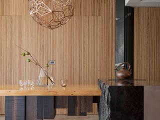 日式新和風清美學宅邸 大湖森林室內設計 餐廳 實木 Multicolored
