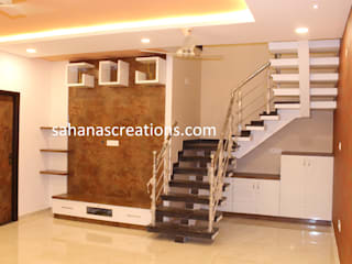 Budget Home interiors Modern living room by Sahana's Creations Architects and Interior Designers Modern