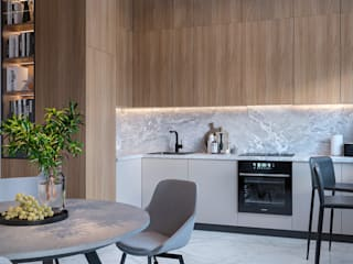 Студия дизайна 'INTSTYLE' Built-in kitchens Wood White