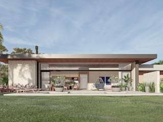 Arquitetas Bianca e Bárbara Lehmkuhl Modern houses Solid Wood Beige