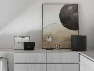 知域設計 Eclectic style dressing room Grey