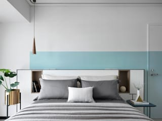 Eclectic style bedroom by 知域設計 Eclectic