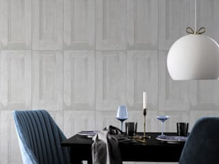 The 'Wood Panelling' wallpaper collection, totally on the wall design by Mineheart Рустiк