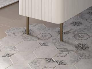 知域設計 Scandinavian style corridor, hallway& stairs Tiles