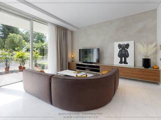 Salas de estar minimalistas por Singapore Carpentry Interior Design Pte Ltd Minimalista