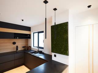 Penthouse en ville justinside Éléments de cuisine Bois massif Noir