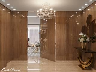 Pasillos, vestíbulos y escaleras modernos de Camila Pimenta | Arquitetura + Interiores Moderno