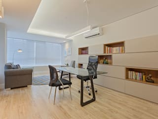 Modern style study/office by CAMILA FERREIRA ARQUITETURA E INTERIORES Modern
