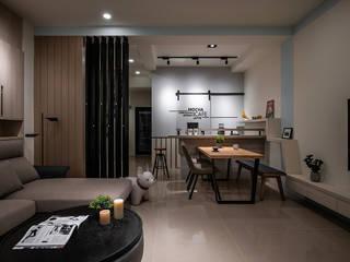 Mocha 逸硯空間設計有限公司 现代客厅設計點子、靈感 & 圖片 塑木複合材料 Yellow