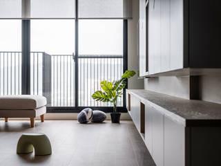 這些時光 逸硯空間設計有限公司 客廳 合板 White