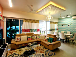 THE UP-SCALE HOUSE Eclectic style living room by Thumbnail Design Eclectic