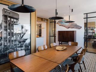 Comedores minimalistas de AGi architects arquitectos y diseñadores en Madrid Minimalista