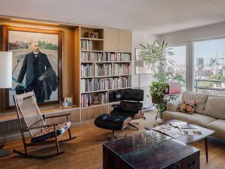 Salones minimalistas de AGi architects arquitectos y diseñadores en Madrid Minimalista