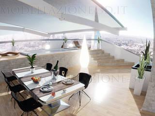 Modern balcony, veranda & terrace by Alessandro Chessa Modern
