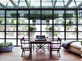 Veranda Montecarlo CMG & Figli snc Giardino d'inverno minimalista Ferro / Acciaio Nero
