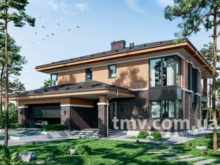 Стильный двухэтажный особняк с гаражом TMV 105 от TMV Architecture company