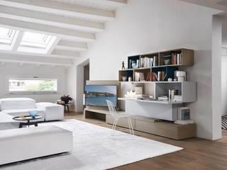 Livarea ห้องนั่งเล่นชั้นวางทีวีและตู้วางทีวี แผ่นไม้อัด White