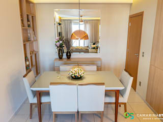 Camarina Studio Modern dining room Amber/Gold