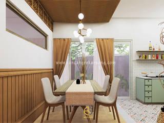 Rancang Reka Ruang Modern Dining Room Brown