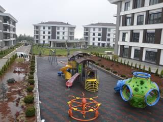 Gaziantep Çocuk oyun parkı, Kauçuk zemin kaplama Gezegen X Kent Mobilyaları Kayalı bahçe İşlenmiş Ahşap Sarı