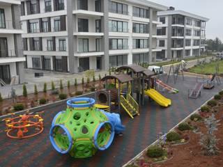 Gaziantep Çocuk oyun parkı, Kauçuk zemin kaplama Gezegen X Kent Mobilyaları Zen bahçesi Kuvars Şeffaf