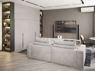'PRimeART' Eclectic style living room Grey