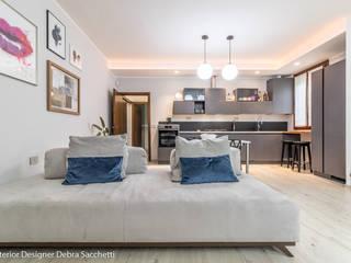 Debra Sacchetti Livings de estilo moderno
