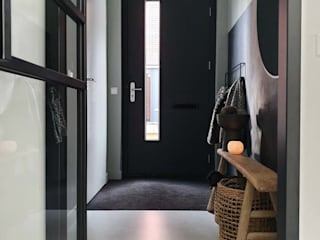 Pure & Original Modern Corridor, Hallway and Staircase Grey