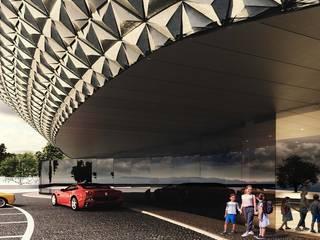 Hotel ⭐️⭐️⭐️⭐️ em Vila Nova de Famalicão - Estudo prévio Escritórios modernos por OBRA ATELIER - Arquitetura & Interiores Moderno