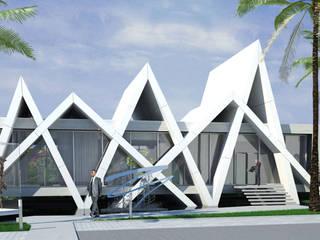 Escritórios Litotipo - Luanda, Angola Escritórios industriais por OBRA ATELIER - Arquitetura & Interiores Industrial