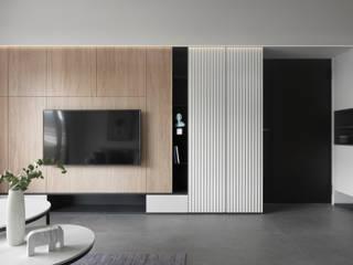 知域設計 Scandinavian style living room Wood effect
