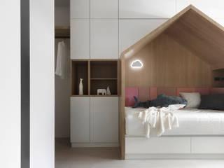 知域設計 Scandinavian style nursery/kids room Wood effect