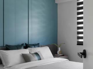 知域設計 Scandinavian style bedroom Blue