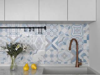 知域設計 Scandinavian style dining room Tiles Blue