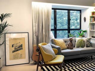 Bill's Design Limited Ruang Keluarga Modern Yellow